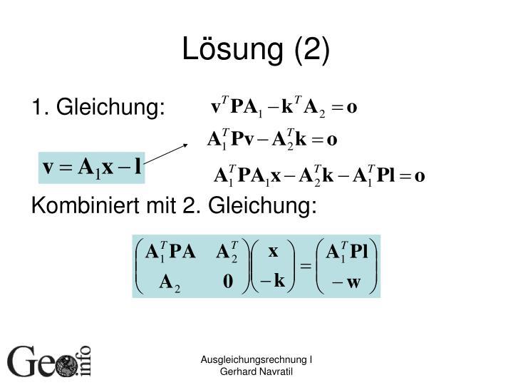 Lösung (2)