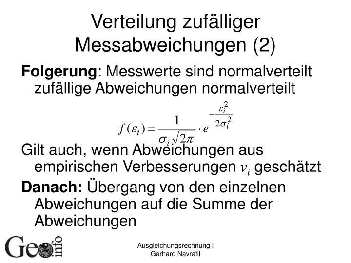Verteilung zufälliger Messabweichungen (2)