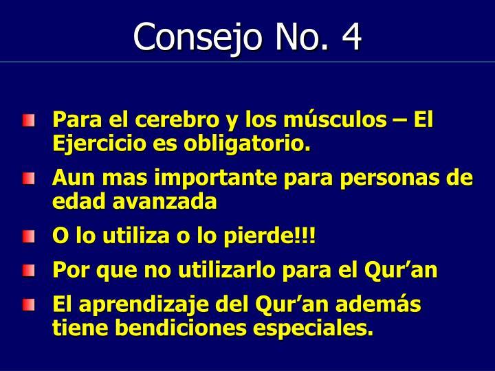 Consejo No. 4