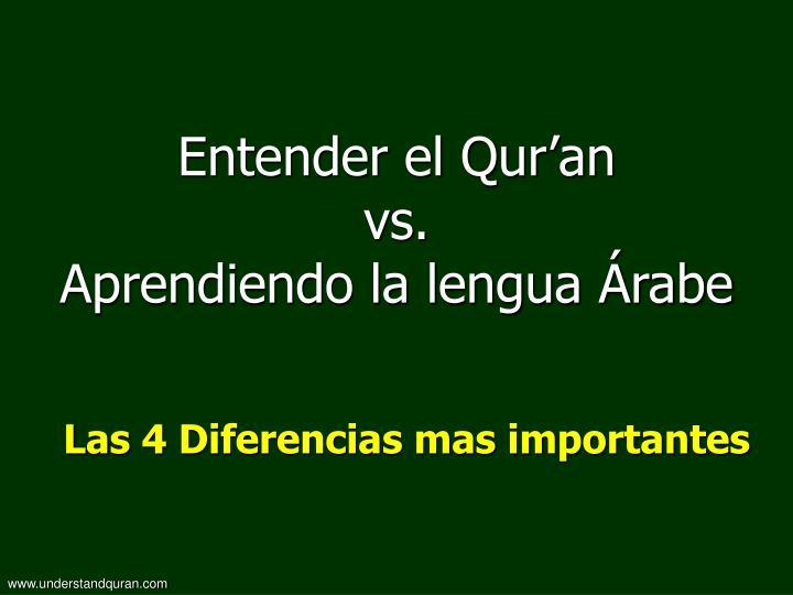 Entender el Qur'an
