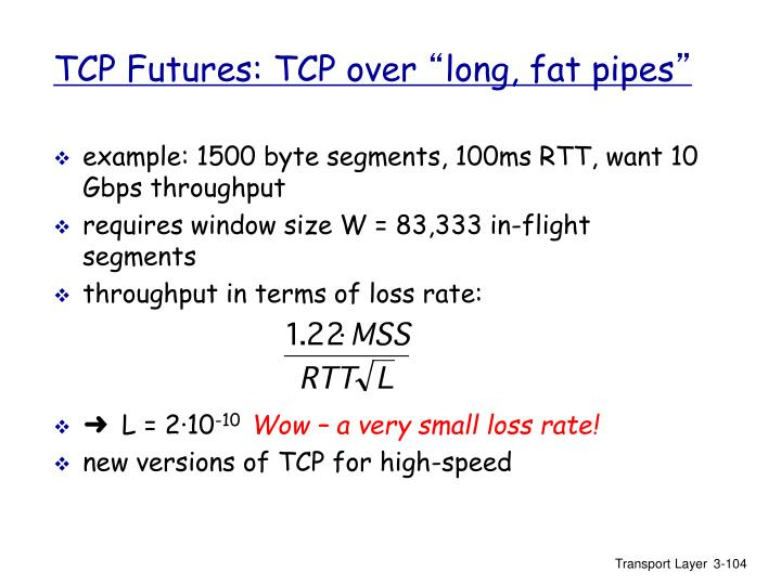 TCP Futures: TCP over