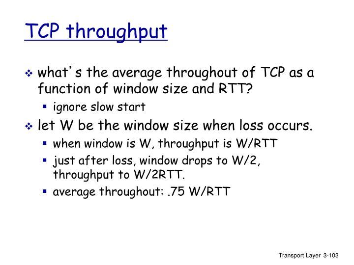 TCP throughput