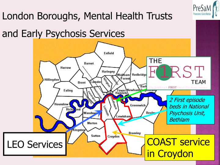 London Boroughs, Mental Health Trusts