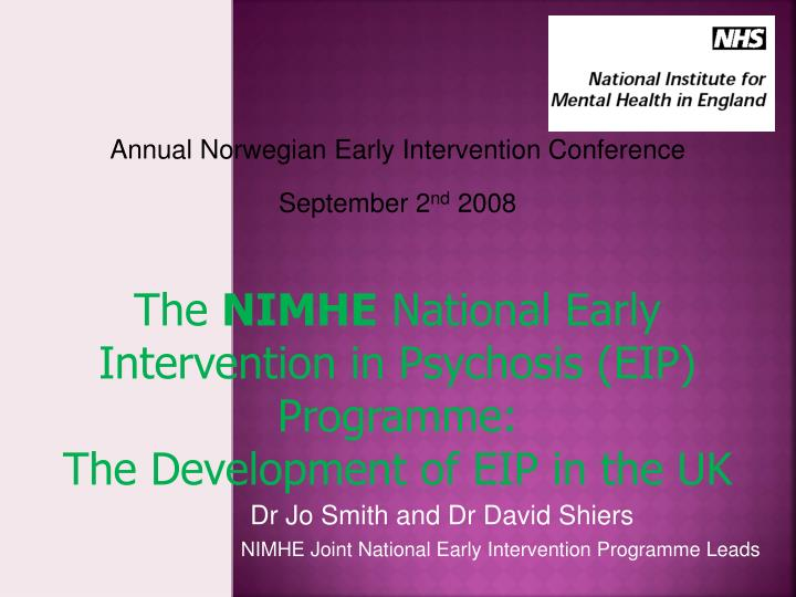 Annual Norwegian Early Intervention Conference