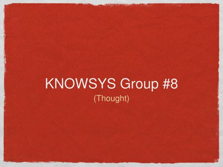 Knowsys group 8