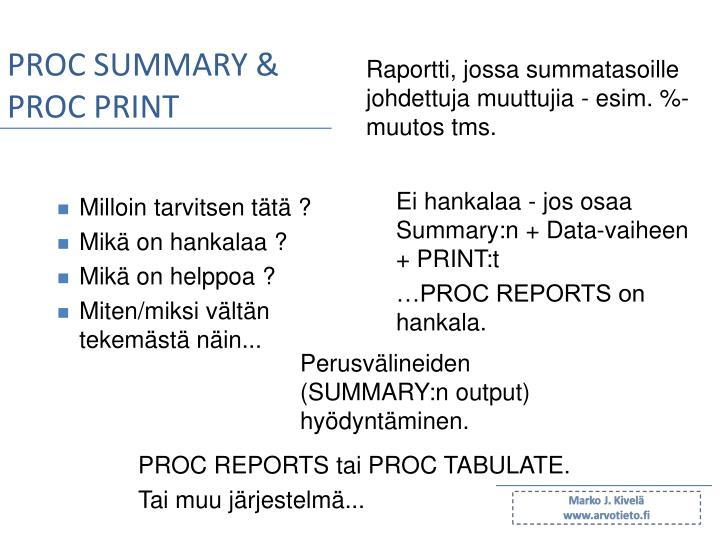PROC SUMMARY &