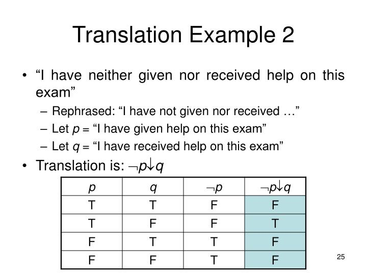 Translation Example 2