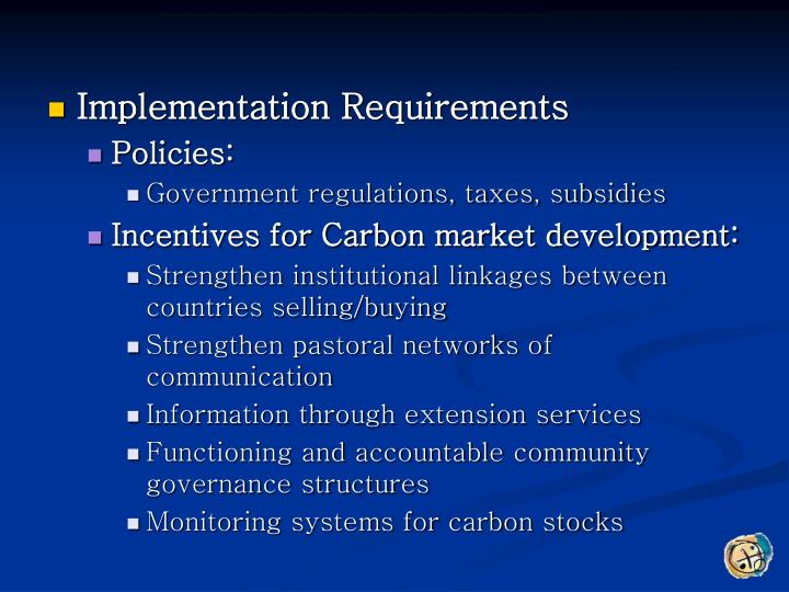 Implementation Requirements