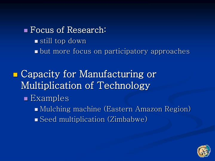 Focus of Research:
