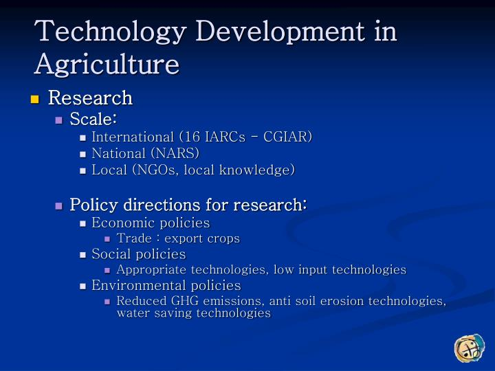 Technology Development in Agriculture