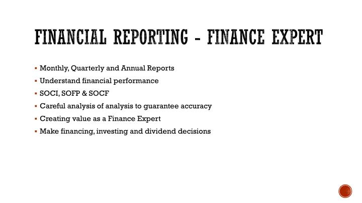 FINANCIAL REPORTING -