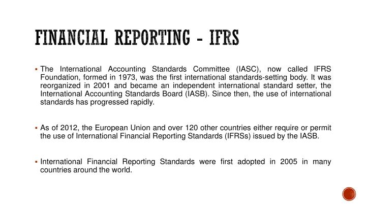 FINANCIAL REPORTING - IFRS