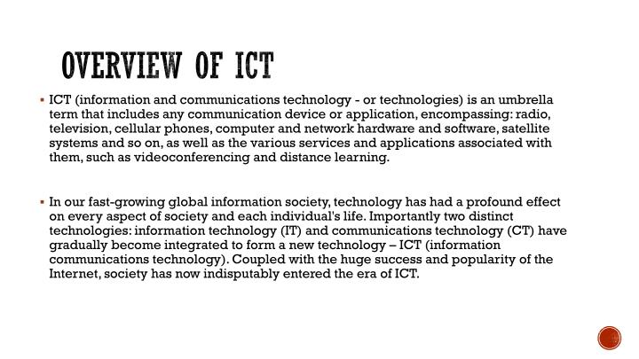 Overview of ict