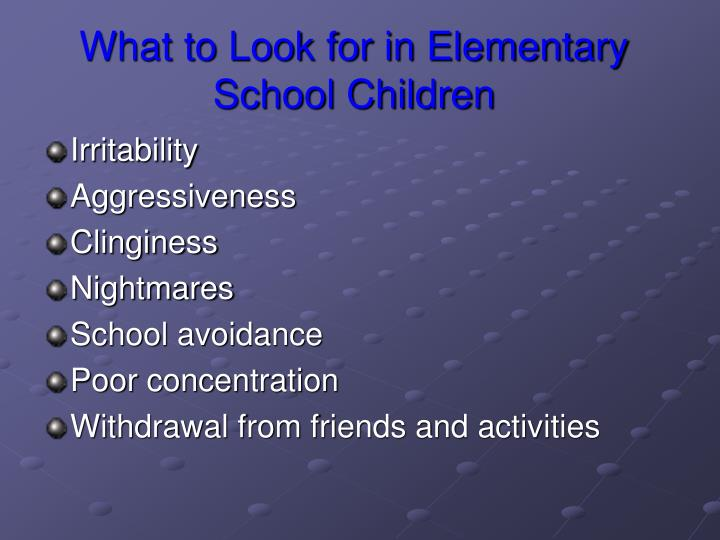 What to Look for in Elementary School Children