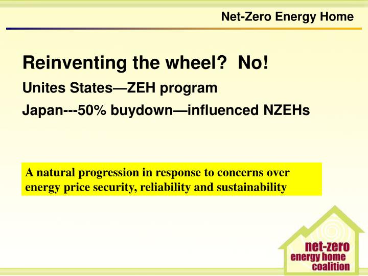 Ppt the net zero energy home powering canadian homes for Zero net energy home