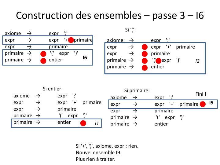 Construction des ensembles – passe 3 – I6