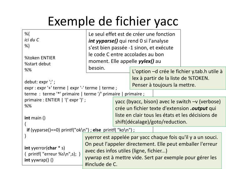 Exemple de fichier