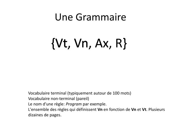 Une Grammaire