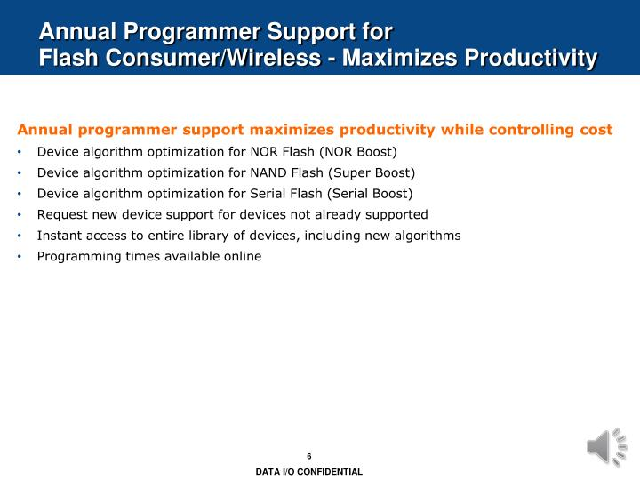 Annual Programmer Support for