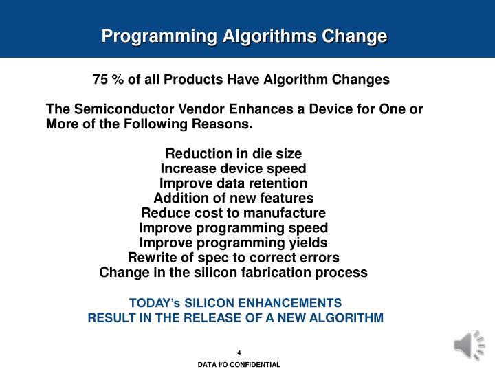 Programming Algorithms Change