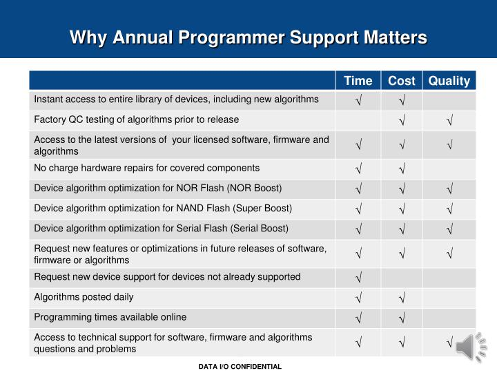 Why Annual Programmer Support Matters