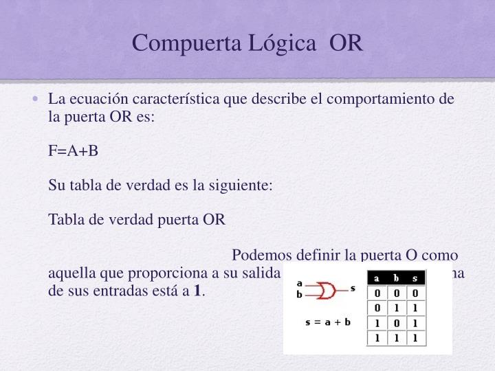 Compuerta Lógica  OR
