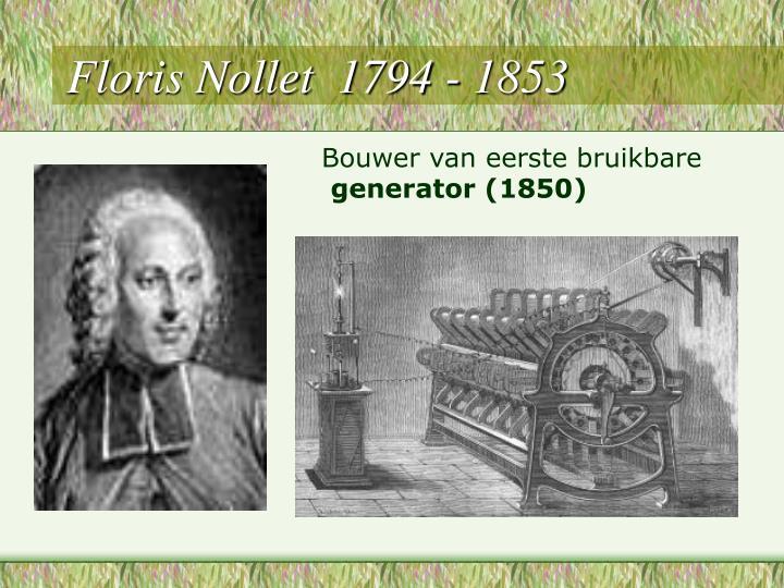 Floris Nollet  1794 - 1853