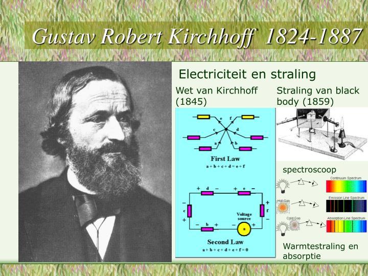 Gustav Robert Kirchhoff  1824-1887