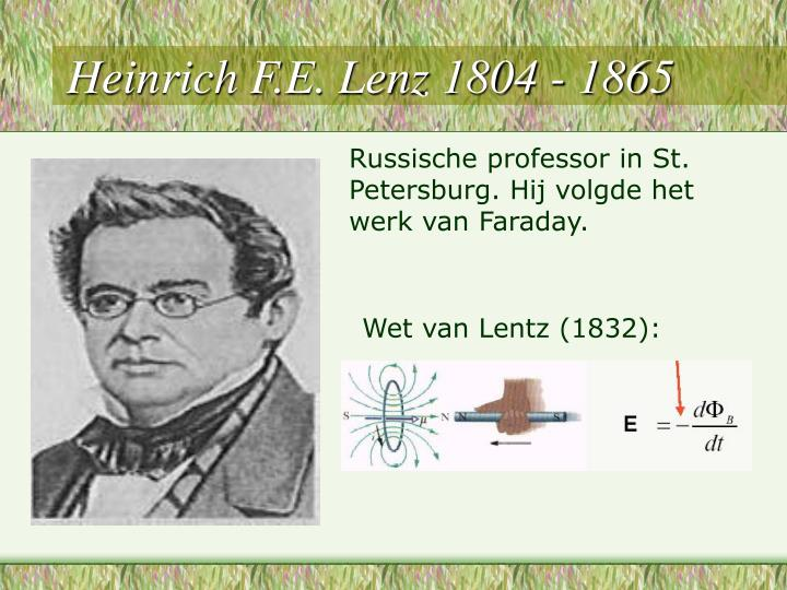 Heinrich F.E. Lenz 1804 - 1865