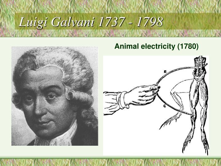Luigi Galvani 1737 - 1798