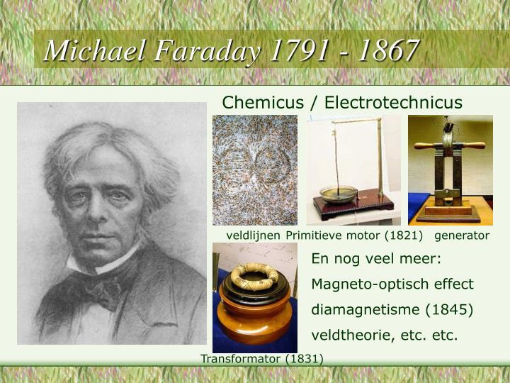 Michael Faraday 1791 - 1867