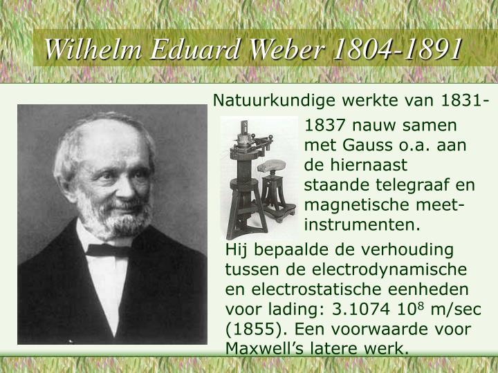 Wilhelm Eduard Weber 1804-1891