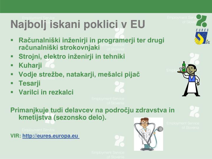 Najbolj iskani poklici v EU