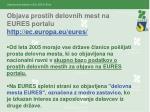 objava prostih delovnih mest na eures portalu http ec europa eu eures
