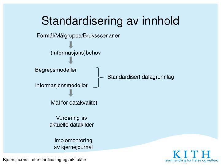 Standardisering av innhold
