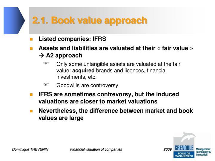 2.1. Book value