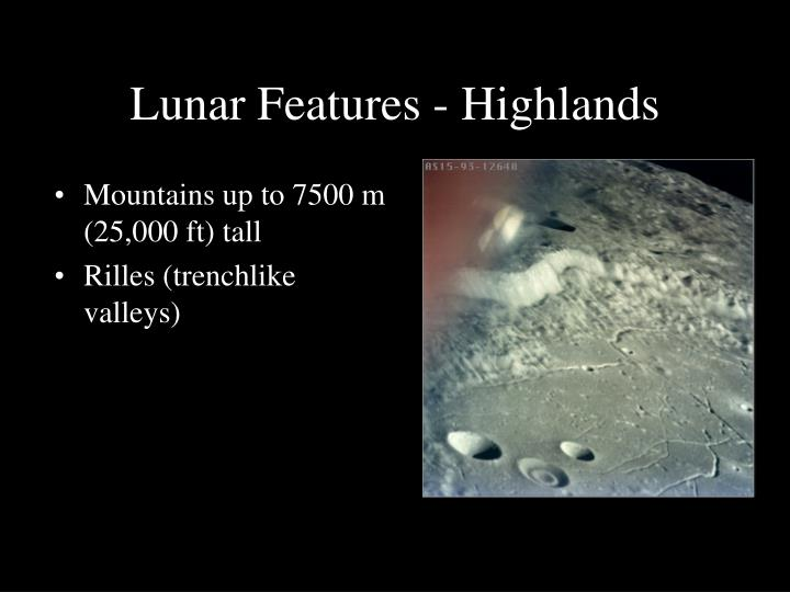Lunar Features - Highlands