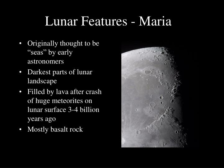 Lunar Features - Maria