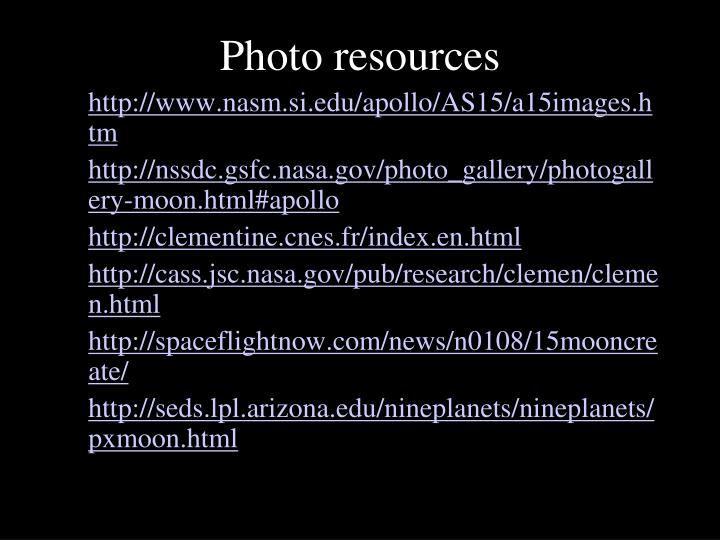 Photo resources
