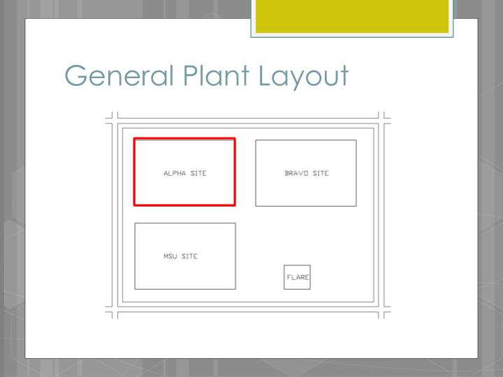 General Plant Layout