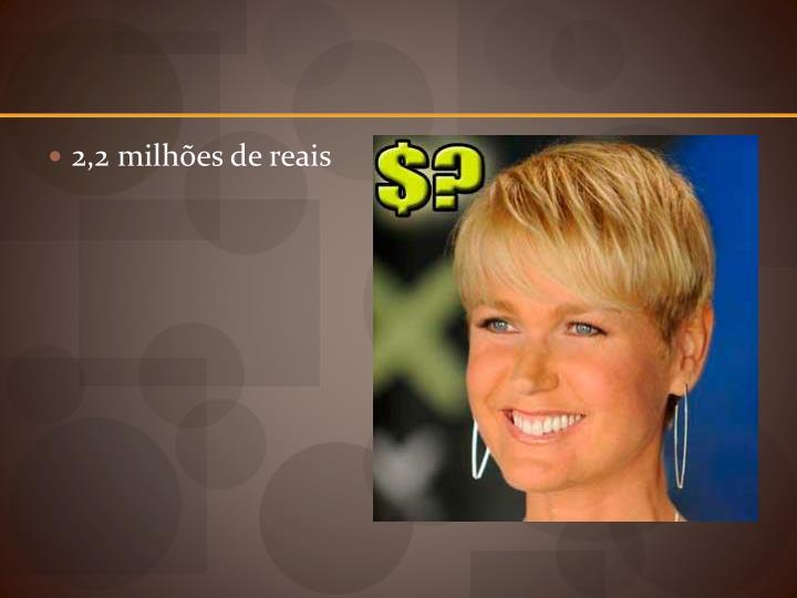 2,2 milhões de reais