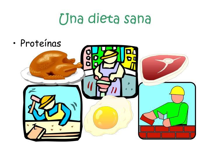 Una dieta sana