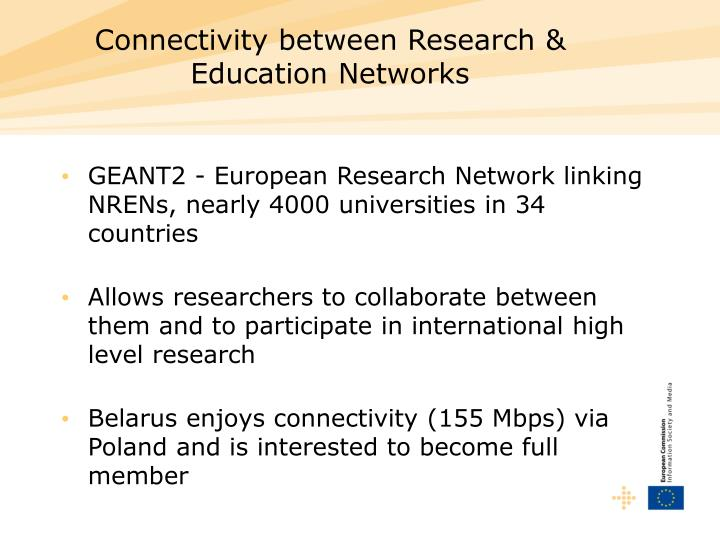 Connectivity between Research & Education Networks