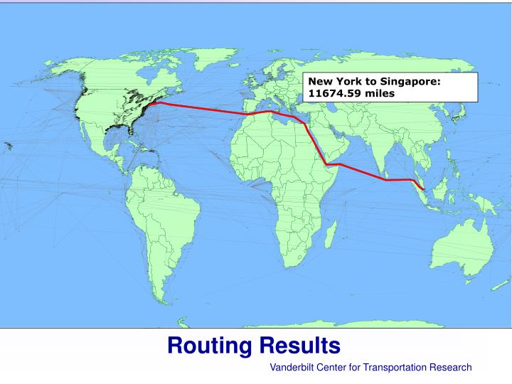 New York to Singapore: 11674.59 miles