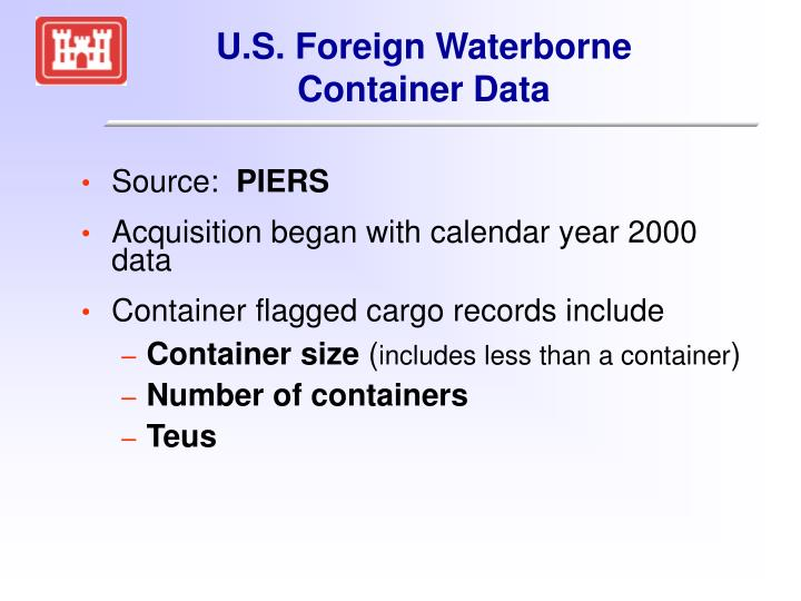 U.S. Foreign Waterborne