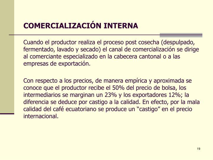 COMERCIALIZACIÓN INTERNA