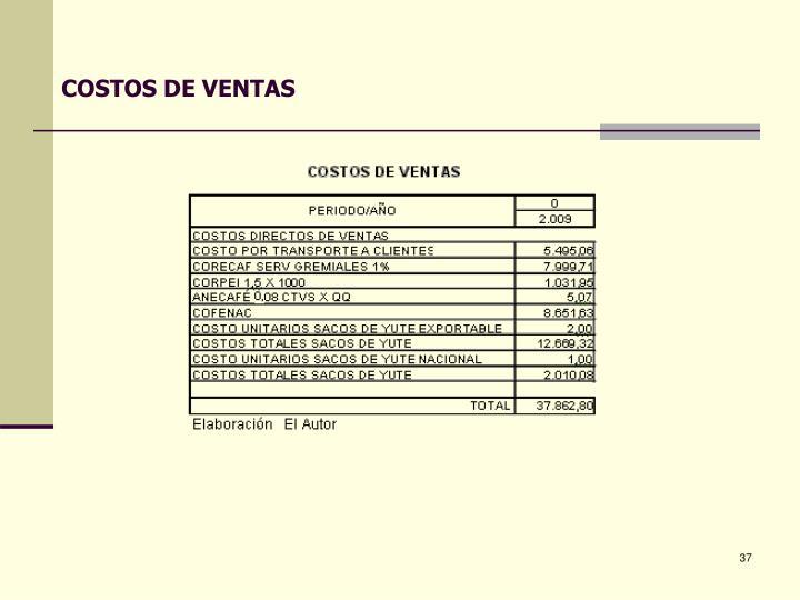 COSTOS DE VENTAS
