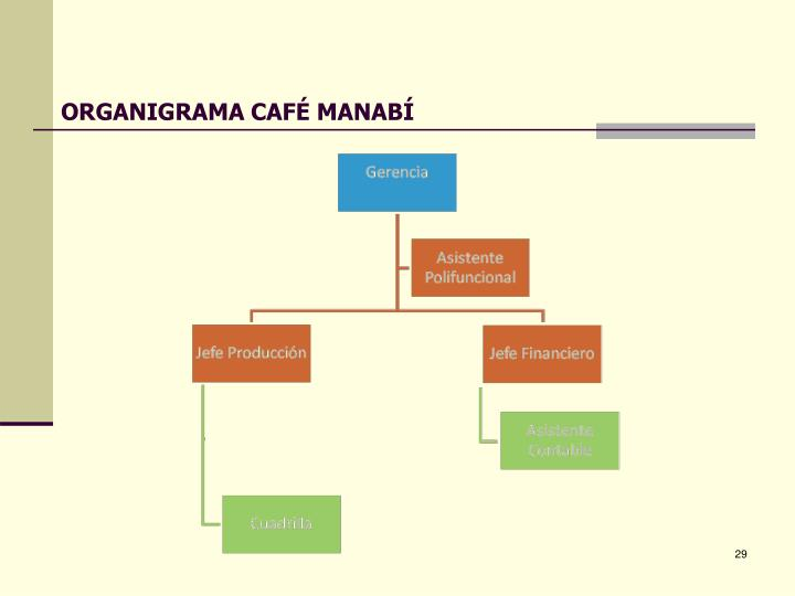 ORGANIGRAMA CAFÉ MANABÍ