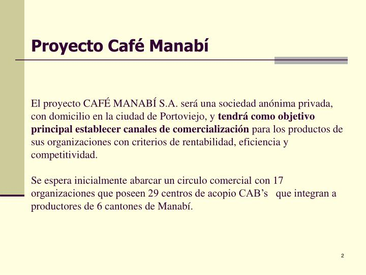 Proyecto Café Manabí
