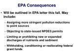 epa consequences